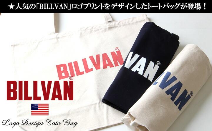 トートバッグ BILLVAN ナチュラル・キャンバス ヴィンテージロゴ ・トートバッグ