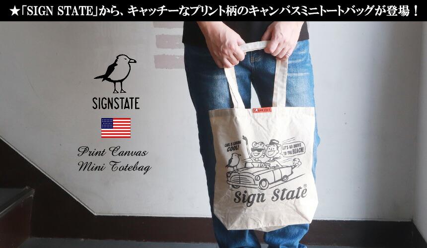 トートバッグ SIGN STATE ナチュラル キャンバス DRIVE CARL トートバッグ スモールサイズ サインステイト