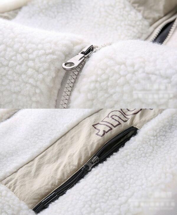 メンズ あったかボアフード付きジャケット ボアブルゾン