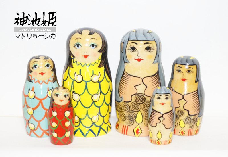 当店オリジナルマトリョーシカ「神池姫」シリーズ
