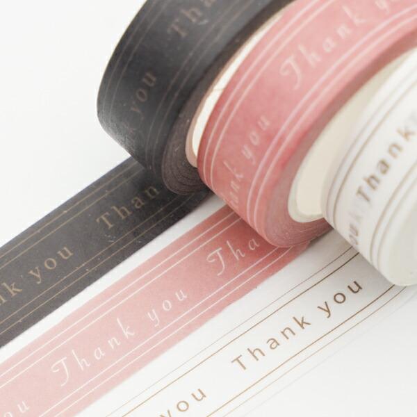 【RUNGOオリジナル】Thank youマスキングテープ3個セット マスキングテープ Thank you ありがとう かわいい  ルンゴオリジナル RUNGO マステ 雑貨 人気 文房具 文具 おしゃれ RUNGO