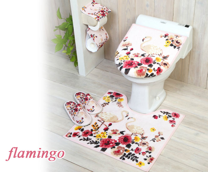Astounding Flamingo Restroom Two Points Set For The Common Toilet Seat Cover Cover And Restroom Mat Step Mat Toilet Seat Cover Cover Toiletry Short Links Chair Design For Home Short Linksinfo