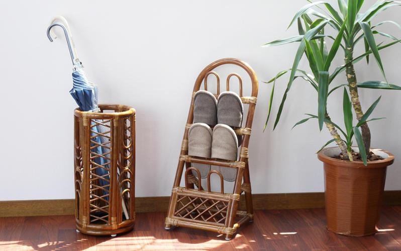 籐家具 ラタン製 スリッパラック サンフラワーラタン (R08HR)