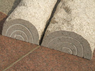 Ryoseki Placing The Glue No ★ Bollard Block Wood Design