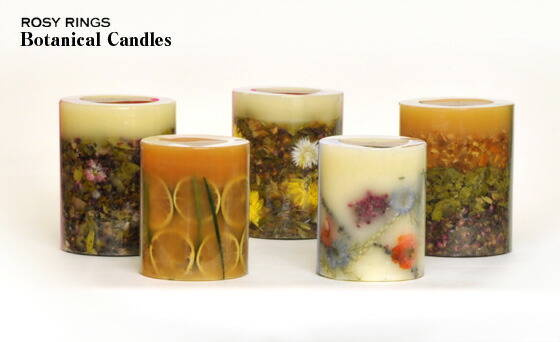 style deco rosy rings botanical candle tall round