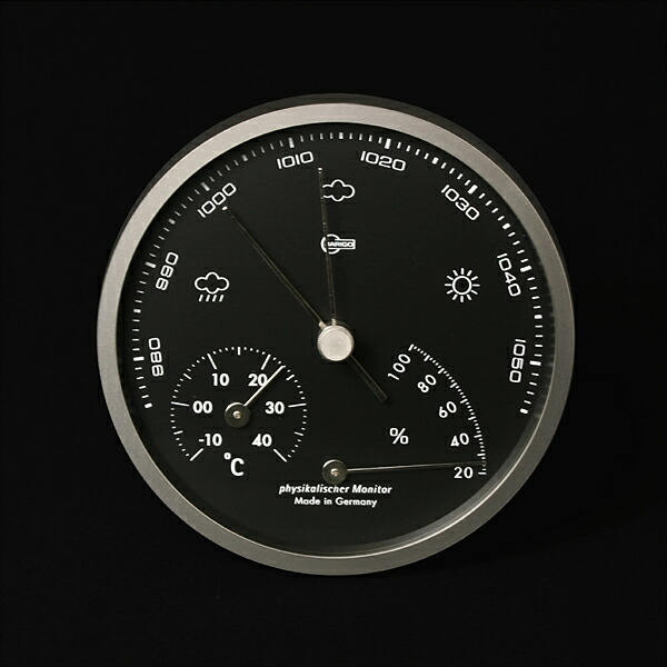 BARIGO(バリゴ)/BG101-5 マットシルバー 温湿気圧計