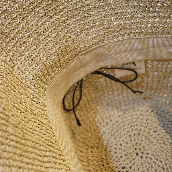 ささ和紙/SASAWASHI 手編み帽子 ベージュ