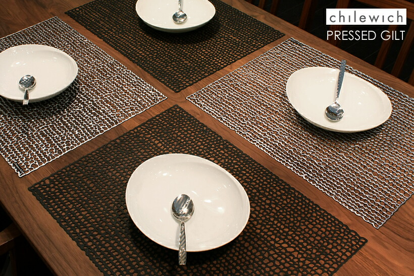 Style deco rakuten global market chilewich pressed gilt for Table mats design your own