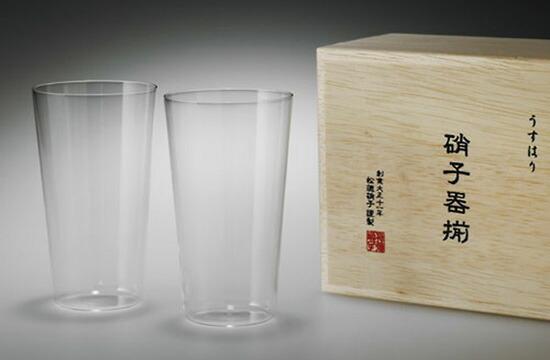 松徳ガラス/タンブラーM 2P(木箱入り)