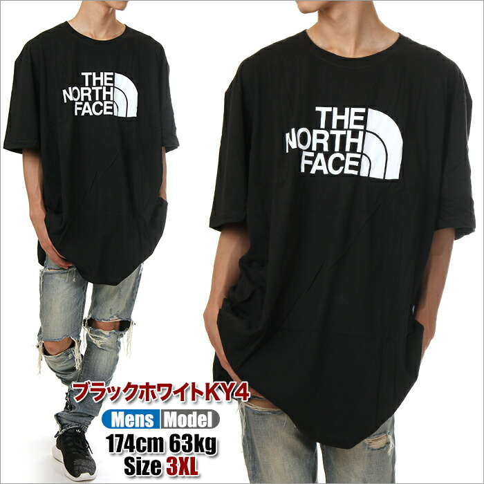 big discount top design uk availability The size big T-shirt big silhouette king size outdoor USA brand fashion 3XL  4XL 5XL black dark blue that the size THE NORTH FACE half-dome logo ...