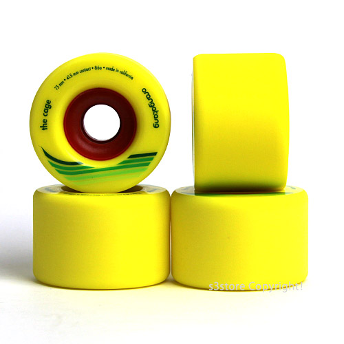 LOADED ORANGATANG The Cage 73 mm skateboard freeride big wheel downhill  slope style color: Yellow size: 73 mm/86 a