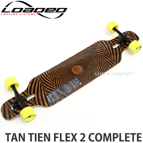 Tan Tien Grip Set Negro negro Loaded Skateboarding
