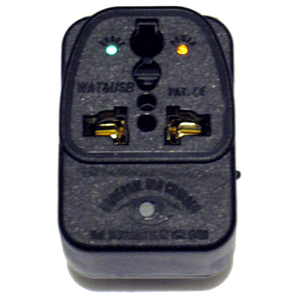 橙/通電ランプ・下部/サージ通電ランプ・緑/USB通電ランプ