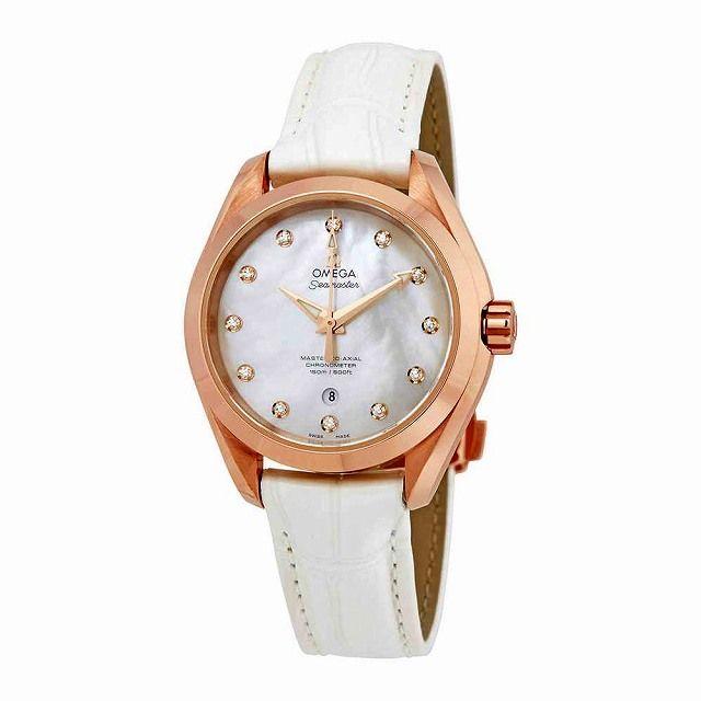 new product bf7f8 59023 店頭受取可]オメガ シーマスター アクアテラ レザー 腕時計 ...