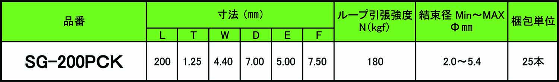蓄光サイズ表
