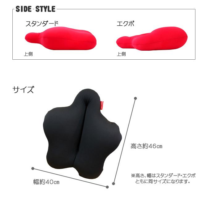 SIDE STYLE スタンダード エクボ 上側 サイズ 幅約40センチ 高さ約46センチ 高さ、幅はスタンダード・エクボともに同サイズになります。