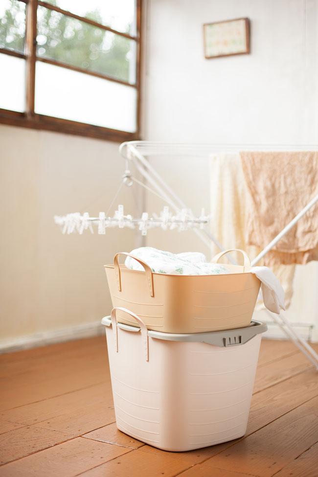 スタックストー 洗面所 収納 洗濯物カゴ