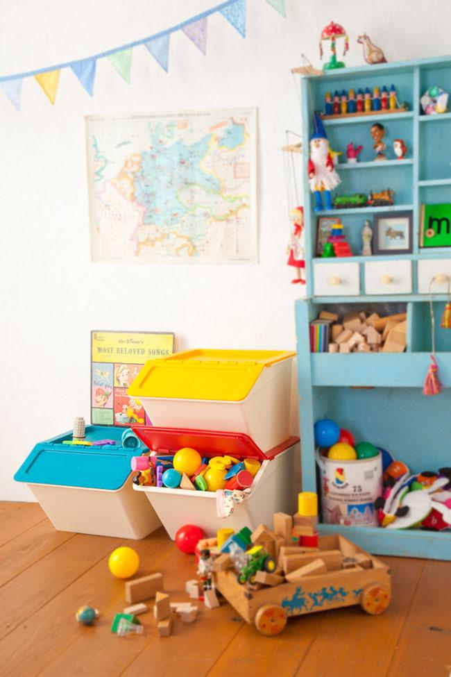 スタックストー ペリカン ベーシック 子供部屋 おもちゃ箱