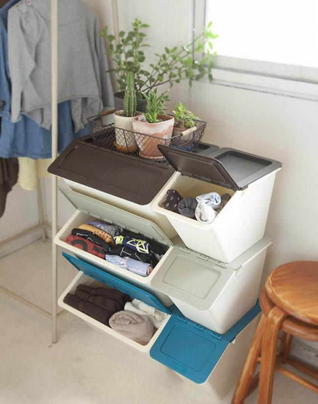 スタックストー ペリカン ワイド スリム リビング 収納 衣装ケース