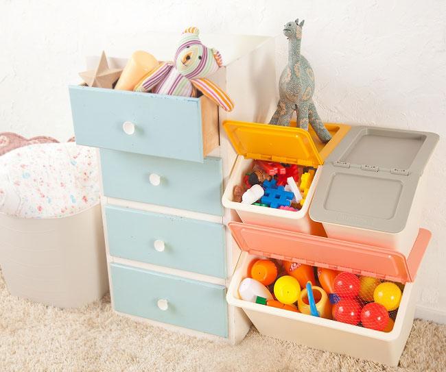 スタックストー ペリカン スリム ワイド おもちゃ箱 子供部屋 収納