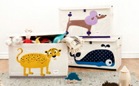 スリースプラウツ 3sprouts トイチェスト 動物イラストのおもちゃ箱 イメージ写真 #収納