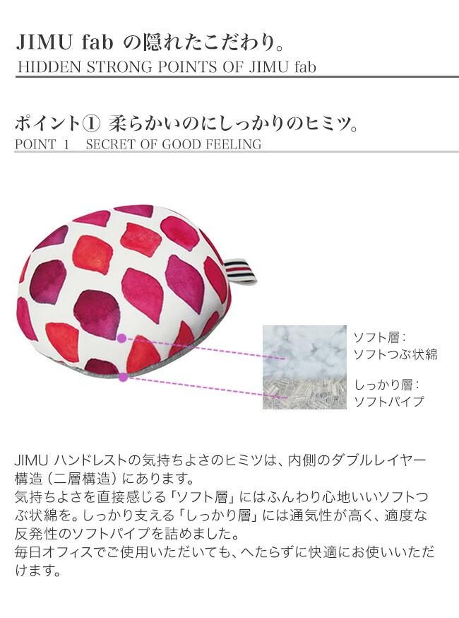 ジムファブ クッション マウス用 ハンドレスト 円形 のこだわり、、柔らかいのにしっかりのヒミツ