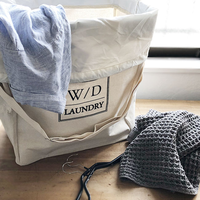 W/D LAUNDRY ランドリーバッグ 自立