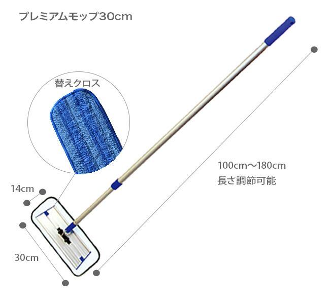 MQ Duotex プレミアムモップ30cmサイズ表