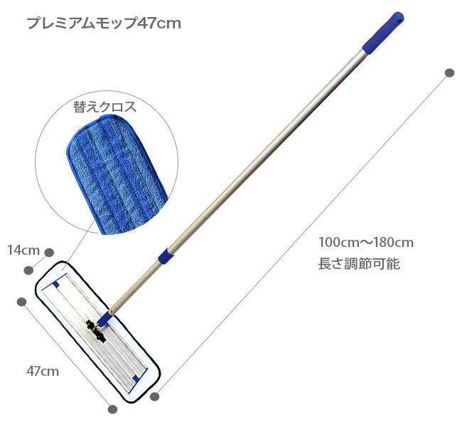 MQ Duotex プレミアムモップ47cmサイズ表