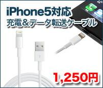 iPhone5対応 充電&データ送信USBケーブル