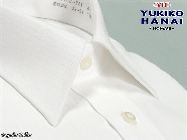 ワイシャツ 長袖 形態安定 綿100% 白