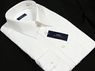 長袖 形態安定 ワイシャツ 白無地 レギュラーカラー 01