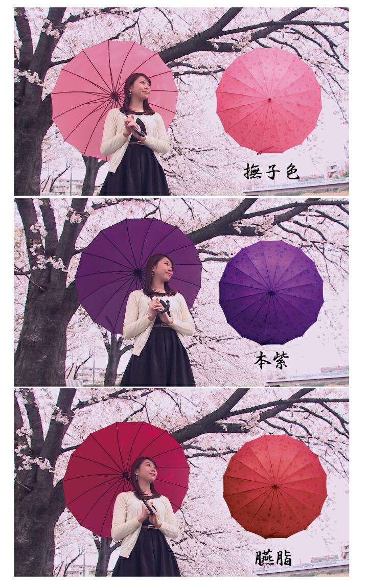 浮き出る桜傘
