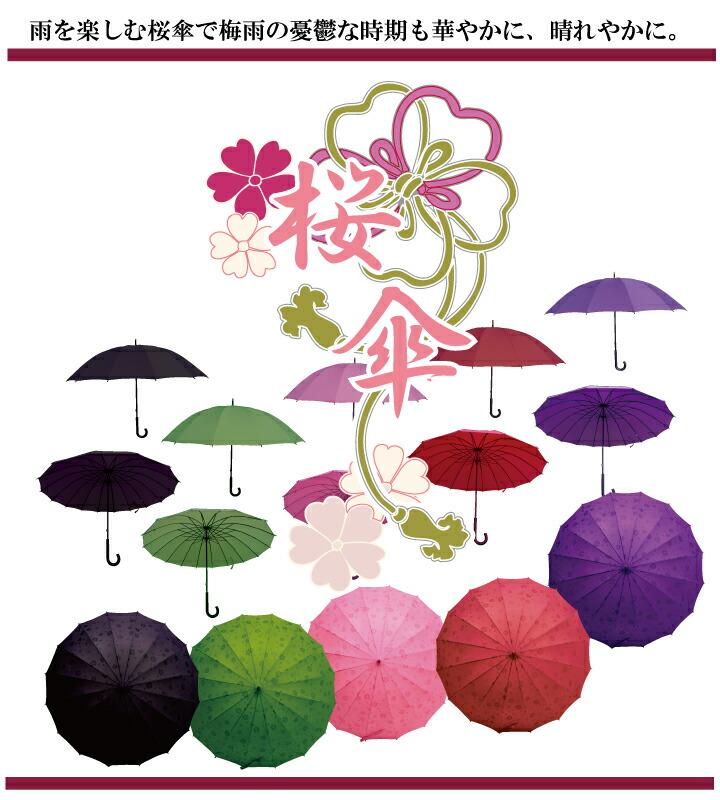 華やか桜傘