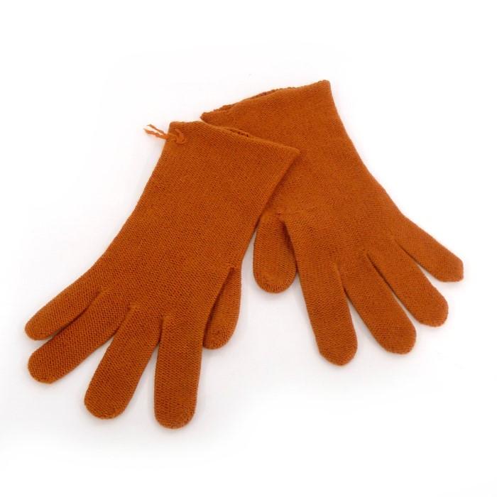 49d7a54697a6 HERMES エルメス オンライン 手袋 カシミヤ100% オレンジ系【z80527*hmn ...