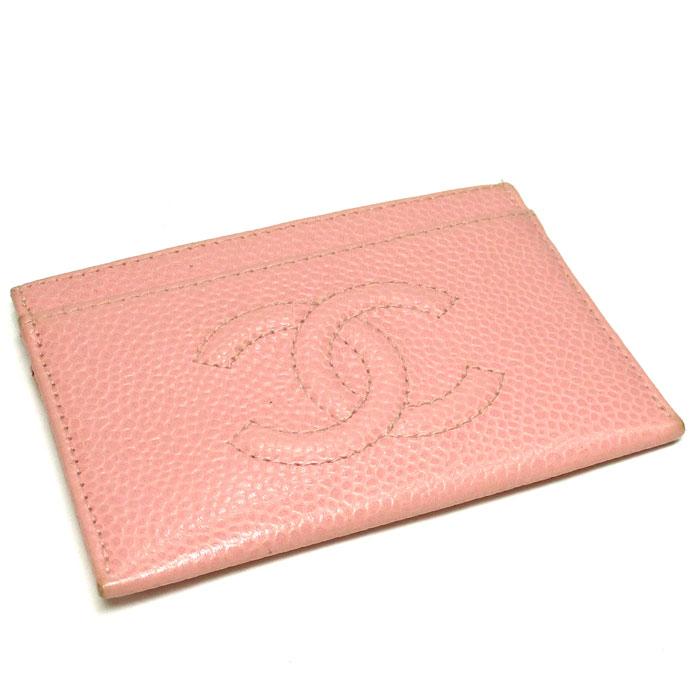 8634d863a638 CHANEL シャネル カードケース ココマーク キャビアスキン ピンク A13508 .【z80610  オンライン*mnn】:サカイのリサイクルショップ