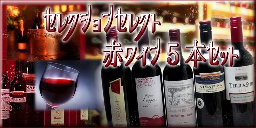 セレクション白5本ワインセット