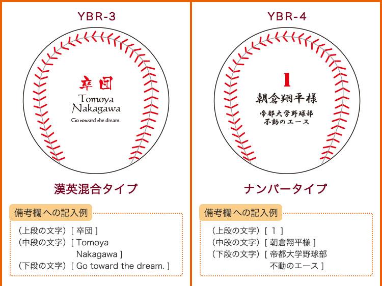 名入れ野球ボールデザイン集