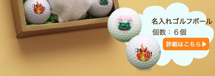 ゴルフボール名入れ6個 詳細へ