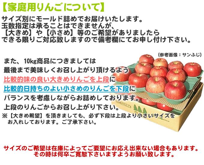 家庭用りんごについて