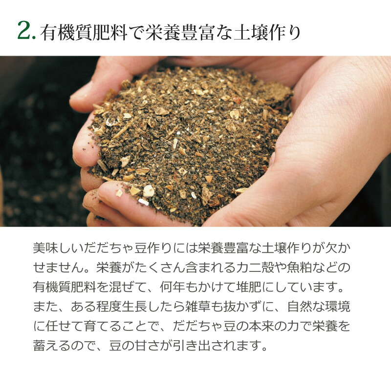 2.有機質肥料で栄養豊富な土壌づくり