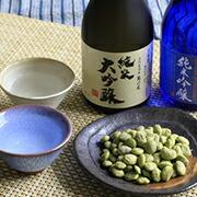 だだっ子豆と日本酒