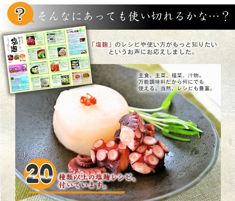 ちこり村の塩麹は20種類以上のレシピつき