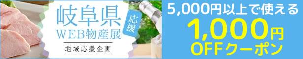 岐阜県応援!WEB物産展1000円offクーポン
