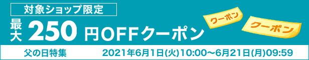 父の日最大250円クーポン