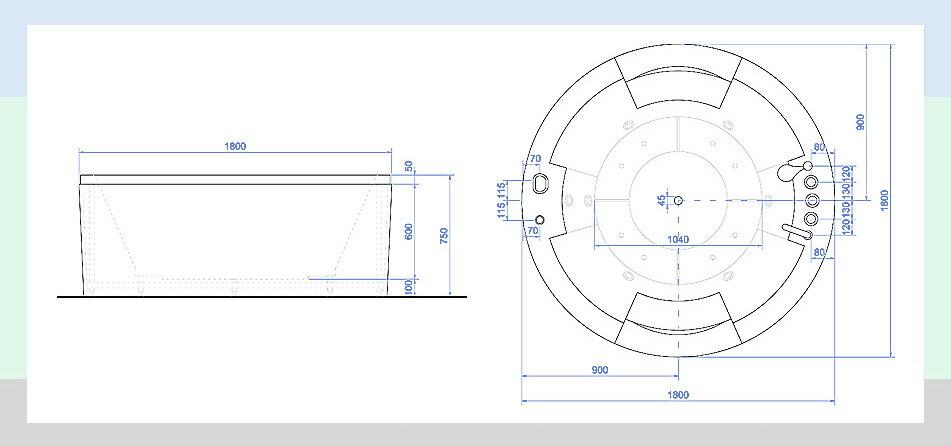 配管、サイズ、標準装備 組み立て図 図 表