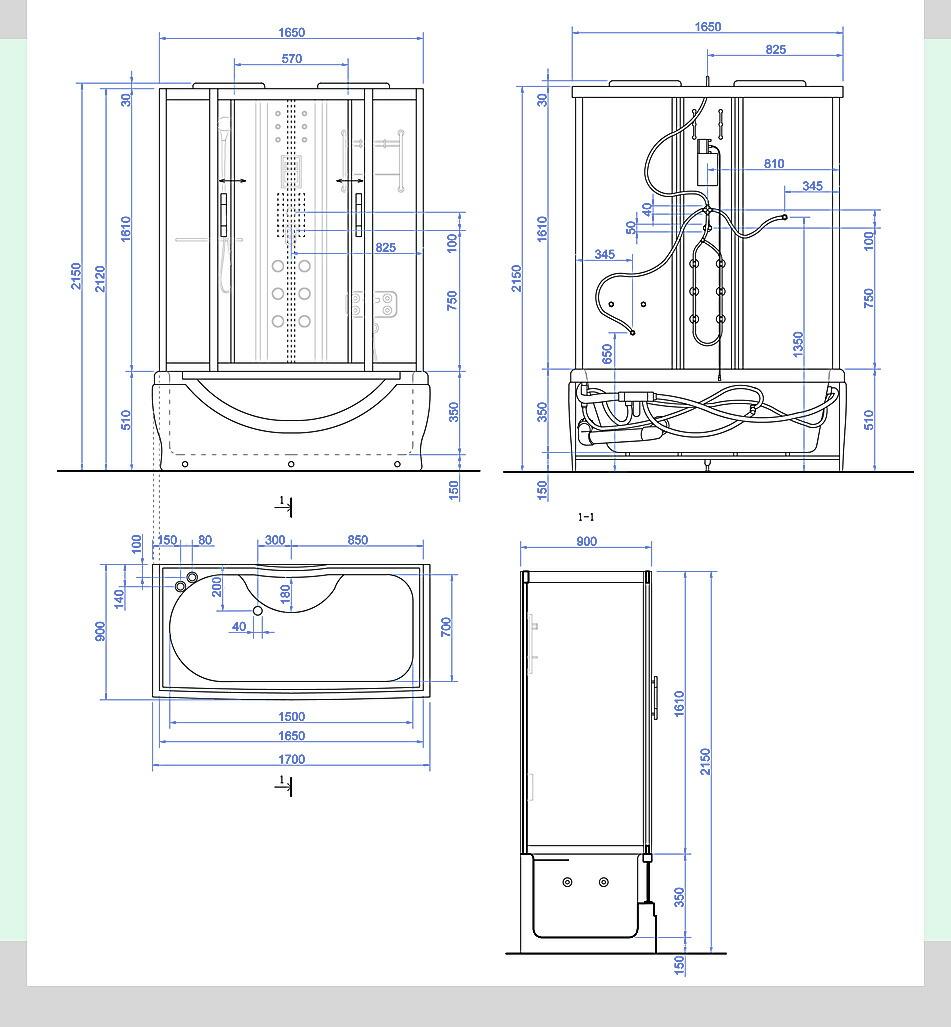 図面 組立 サイズ シャワールーム、シャワーユニット、シャワーブース、浴槽、シャワーを浴びる、リラックス、疲れを取る、シャワーヘッド、シャワールーム設置、ショールーム