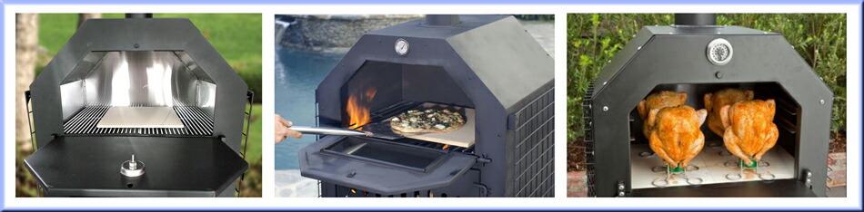 ピザ、ピザオーブン、ピザ窯、薪で焼く、おいしいピザ、野菜を作る、魚を作る、パンを焼く、ピザを焼く、イタリア料理、野外で食事を作る、食べ物、エコ商品、バーベキュー