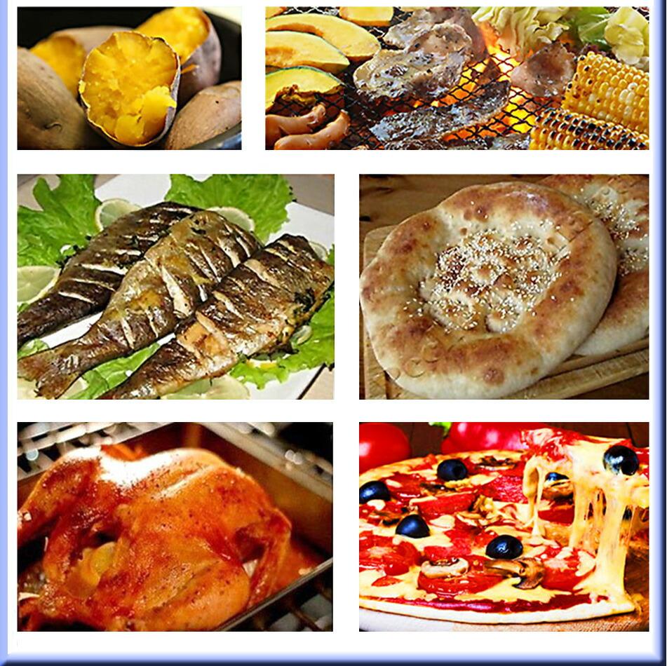 おいしい料理、出来上がったピザ、パン、野菜、魚料理