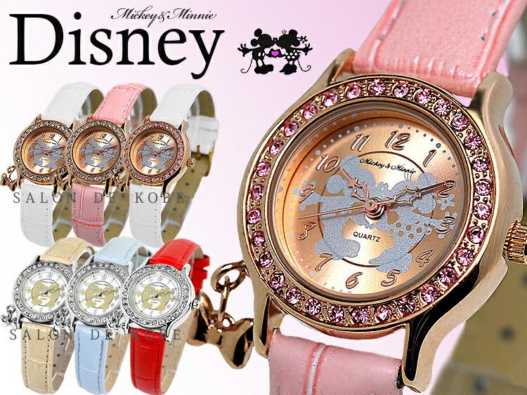 0e85ed101e91 ディズニー 腕時計 レディース ミッキー ミニー キッズ 女性用 子供用 ...